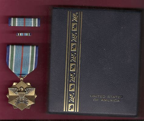 Joint Service Achievement Award medal in case with ribbon