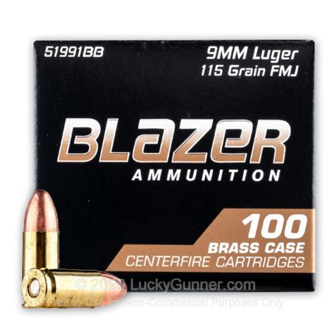 Cheap 9mm Ammo For Sale - 115 Grain FMJ Ammunition in