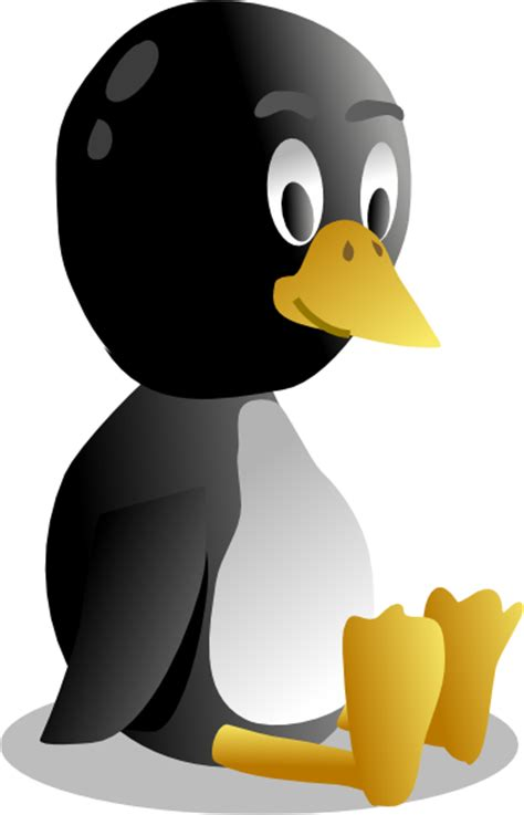 Sitting Baby Pinguin Tux Clip Art at Clker