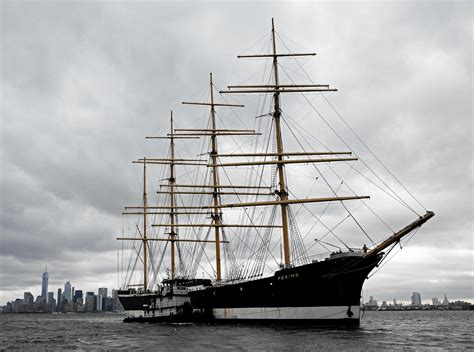 Tall ship in NYC returning to its birthplace in Germany