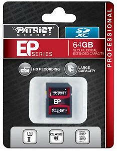 Patriot EP Series 64GB UHS-1 SDXC Memory Card With Read Up