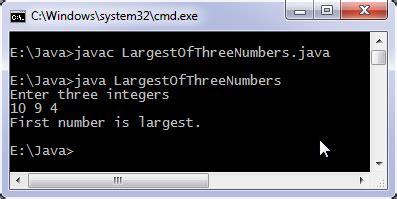 Java program to find largest of three numbers