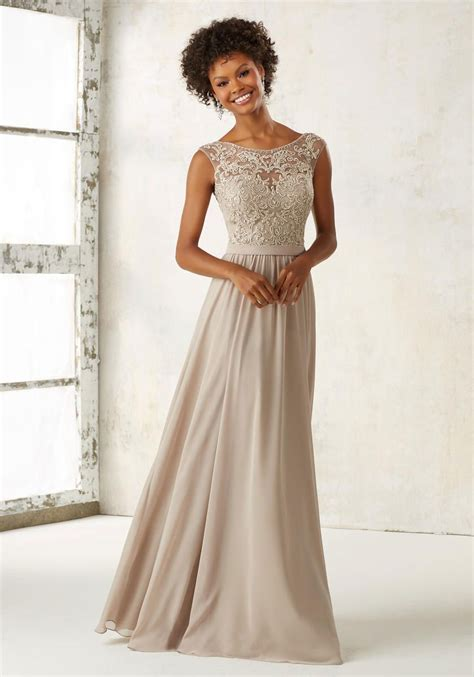 Morilee 21522 Ornate Embroidered Bridesmaid Dress: French
