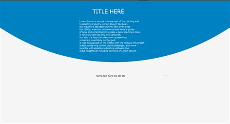 CSS3 Curved backgrounds css or background image for non