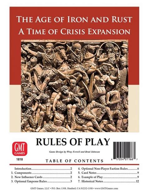 Time of Crisis: The Age of Iron and Rust - Zatrolené hry