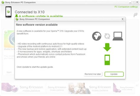 Sony Ericsson finally release the Android 2